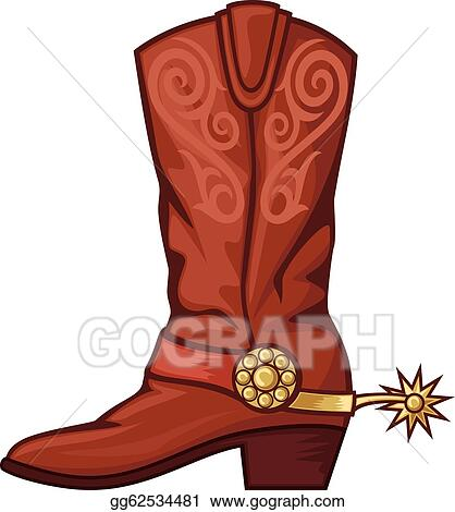 cowboy boot clip art royalty free gograph rh gograph com cowboy boot cartoon clip art cowboy boot clipart vector free