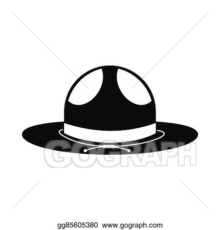 Stock Illustration Cowboy Hat Icon Simple Style Clipart Drawing