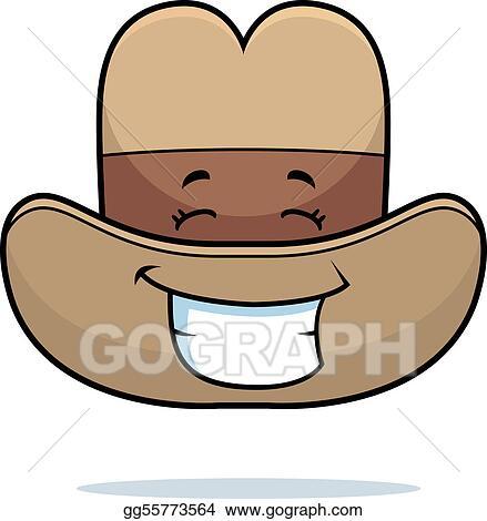 Clip Art Vector - Cowboy hat smiling. Stock EPS gg55773564 - GoGraph cdaf4e0e8e8b