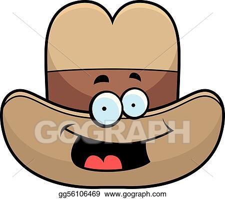 Clip Art Vector - Cowboy hat smiling. Stock EPS gg56106469 - GoGraph fc5cc2577ba1