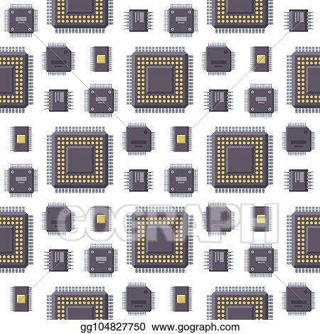 vector stock cpu microprocessors microchip vector illustration hardware seamless pattern background component equipment clipart illustration gg104827750 gograph cpu microprocessors microchip vector