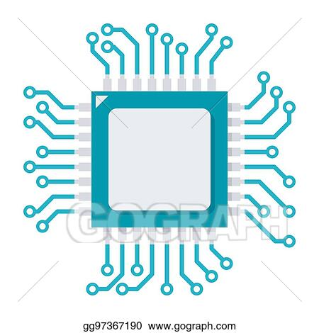 eps illustration cpu vector icon vector clipart gg97367190 gograph https www gograph com clipart license summary gg97367190
