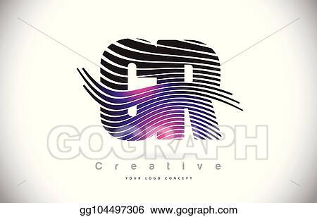EPS Illustration - Cr c r zebra texture letter logo design