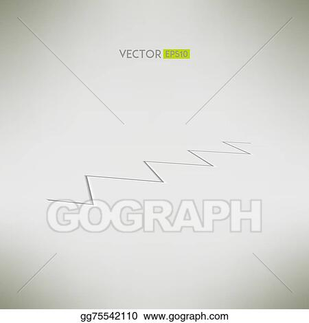 Crack in a surface in perspective. Vector illustation