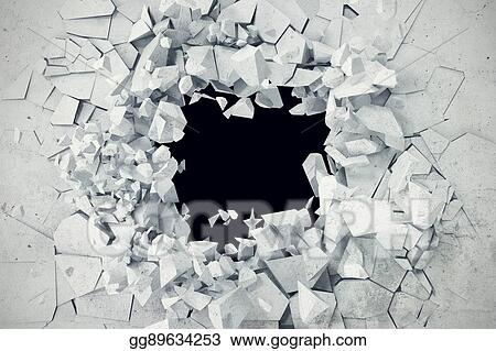 Stock Illustration Cracked Concrete Earth Abstract