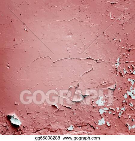 Vector Art - Cracked stucco wall texture vector  Clipart
