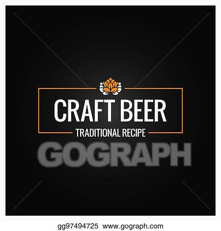 Eps Illustration Craft Beer Logo Design Background Vector Clipart