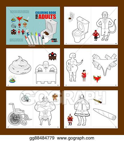 Vector Stock - Crazy coloring book for adults. illustrations for ...
