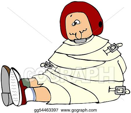 clipart crazy person in a straight jacket stock illustration rh gograph com Crazy Clip Art Crazy Woman Clip Art