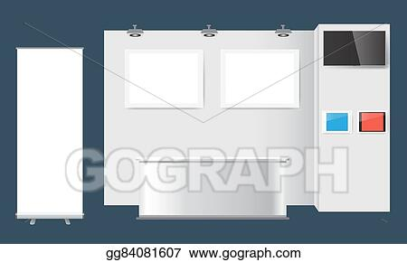 Exhibition Stand Design Drawings : Eps vector creative exhibition stand design booth template