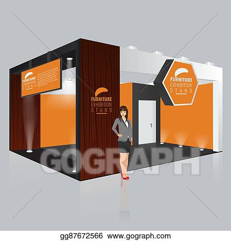 Creative Booth Exhibition : Eps vector creative exhibition stand design. booth template