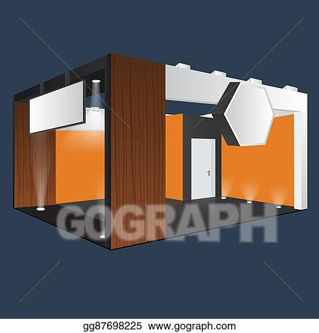 Exhibition Stall Xl : Eps vector creative exhibition stand design. booth template