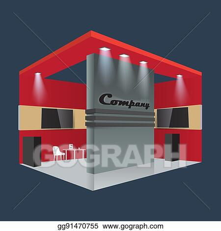 Trade Exhibition Stand Vector : Eps vector creative exhibition stand design booth template