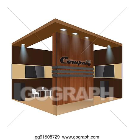 Exhibition Stand Template : Eps vector creative exhibition stand design booth template