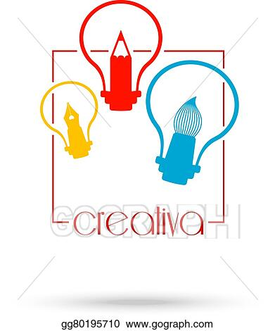 Eps Illustration Creative Light Bulb Idea Concept Symbol Design