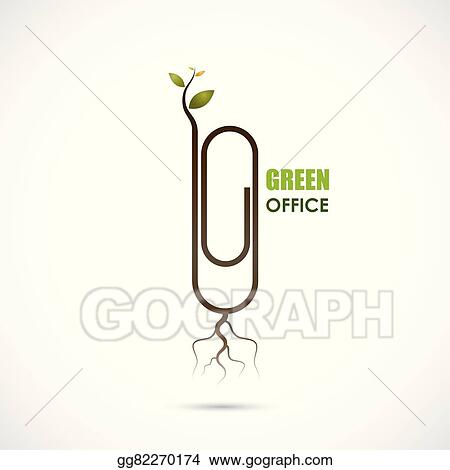 Vector Clipart Creative Paper Clip Logo Design Save The World And