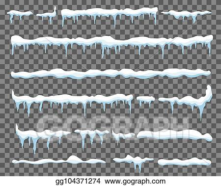 vector clipart creative vector illustration of ice icicle caps