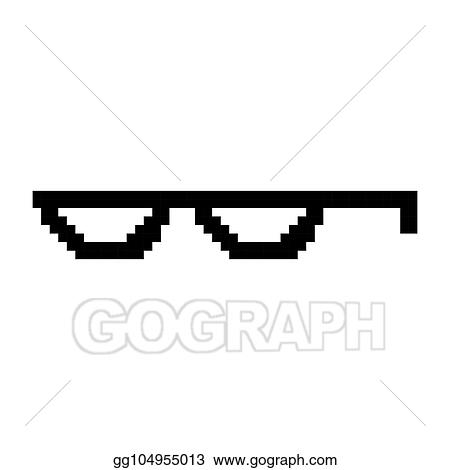 c8759acb3d78 Creative vector illustration of pixel glasses of thug life meme isolated on transparent  background. Ghetto lifestyle culture art design. Mock up template.