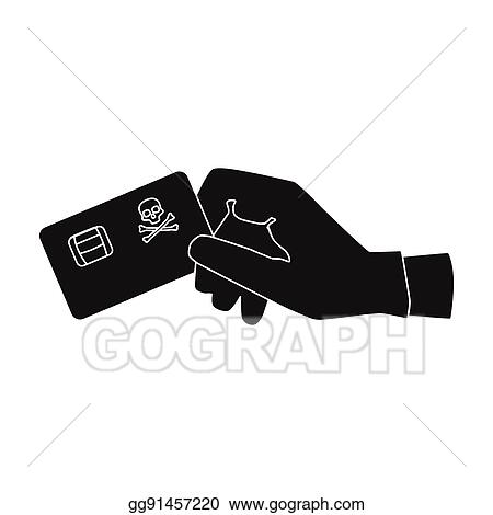 Vector Stock Credit Card Fraud Icon In Black Style Isolated On White Background Hackers And Hacking Symbol Stock Vector Illustration Clipart Illustration Gg91457220 Gograph