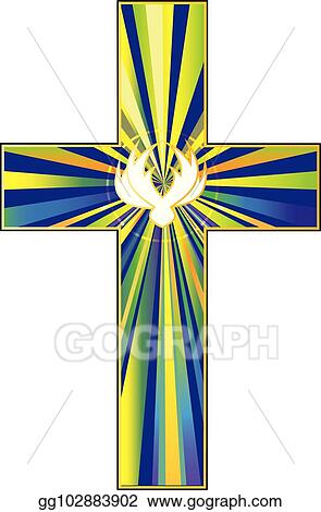 Vector Stock Cross And Dove Symbol Of Christs Resurrection