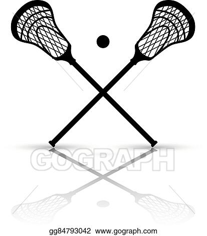 vector stock crossed lacrosse stick and ball stock clip art rh gograph com