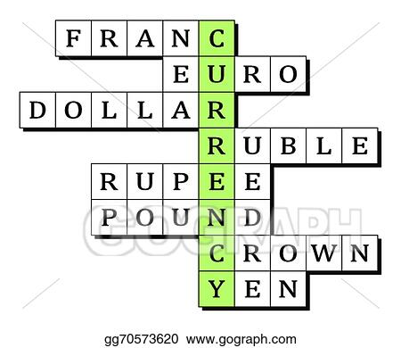 Vector Clipart Crossword For The Word Currency Vector