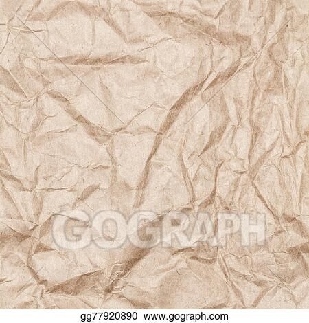 Drawings Crumpled Recycled Paper Background Texture Vintage Craft
