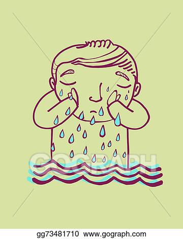 vector art crying a river clipart drawing gg73481710 gograph https www gograph com clipart license summary gg73481710