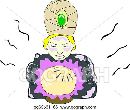 Vector Art Crystal Ball Prediction Eps Clipart Gg63531166 Gograph