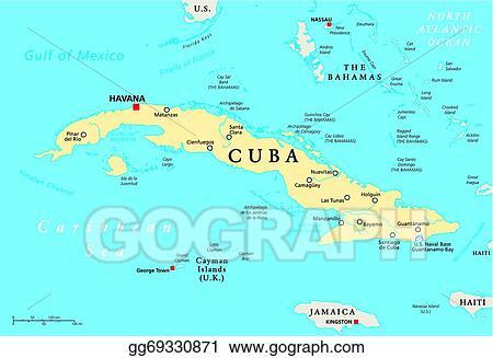 Vector Clipart Cuba political map Vector Illustration gg69330871