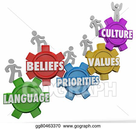 stock illustration culture words people language beliefs Value Proposition Clip Art Value Proposition Clip Art