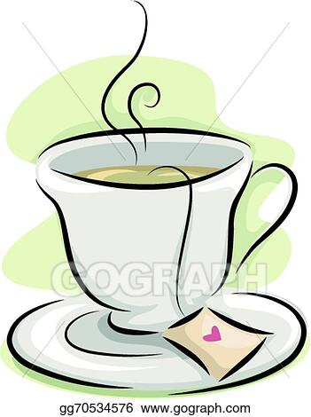 EPS Illustration - Cup of tea  Vector Clipart gg70534576