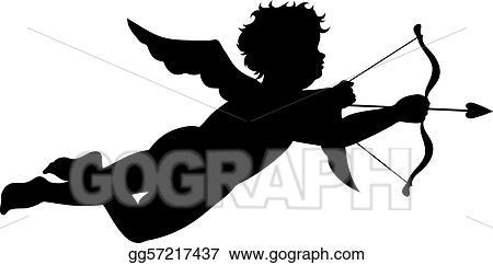 Transparent Cupid Clipart - Cupid Silhouette Clip Art, HD Png Download ,  Transparent Png Image - PNGitem