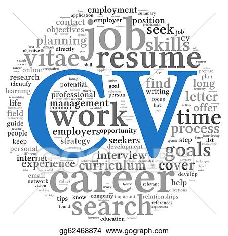 Clip Art Curriculum Vitae Concept In Word Tag Cloud Stock