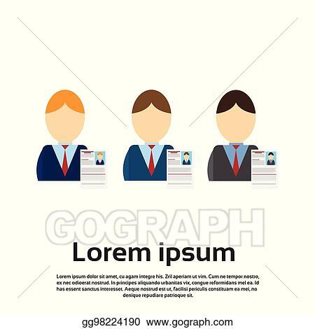 Vector Clipart Curriculum Vitae Recruitment Candidate Job Position