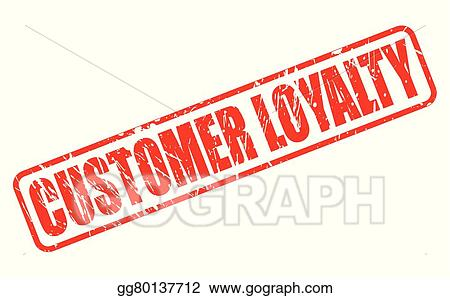 CUSTOMER LOYALTY Red Stamp Text