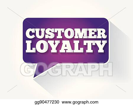 Vector Clipart - Customer loyalty text message bubble