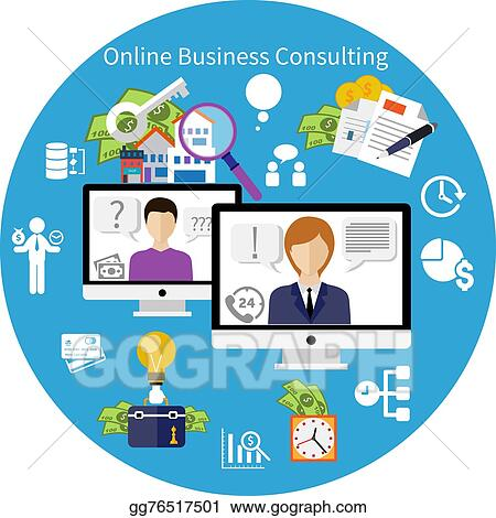 eps illustration customer online consulting service concept rh gograph com customer service clipart and graphics customer service clipart images free
