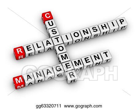 Clipart Customer Relationship Management Crm Stock Illustration