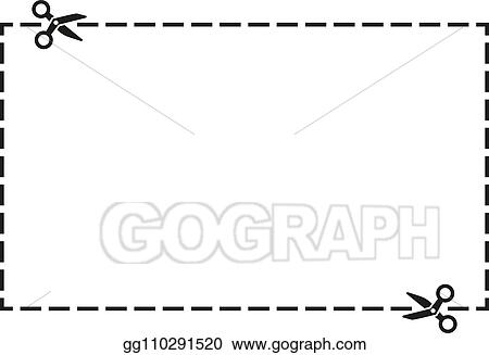 Vector Art Cut Out Coupon Rectangle Shape With Scissors Icon Vector Illustration Clipart Drawing Gg110291520 Gograph