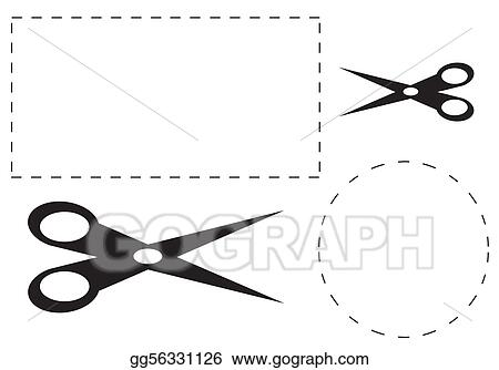 Stock Illustrations Cut Out Coupons And Scissors Stock Clipart