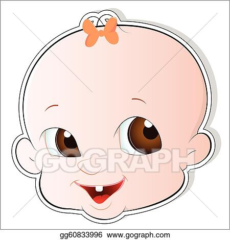 Vector Art - Cute Baby Face Vector. Clipart Drawing Gg60833996 - GoGraph