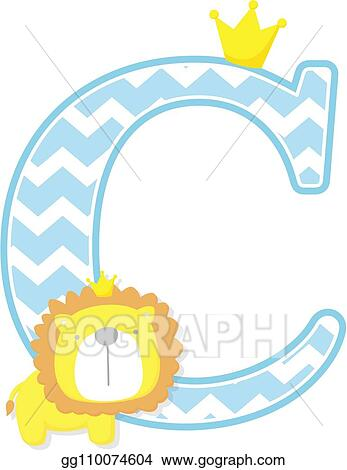 1f0cc49959801 Vector Stock - Cute baby lion king initial c. Clipart Illustration ...