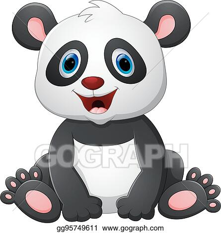 Eps Vector Cute Baby Panda Cartoon Stock Clipart Illustration Gg95749611 Gograph