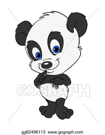 Drawings Cute Baby Panda Stock Illustration Gg62496113 Gograph