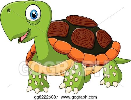 Vector Art Cute Baby Turtle Posing Isolated Clipart Drawing Gg82225087 Gograph