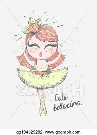 Vector Art Cute Ballerina Surface Design For Kids Vector Graphic For Children Fashion Clothing Use For Print Fashion Wear Clipart Drawing Gg104529282 Gograph
