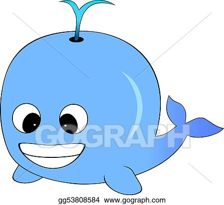 vector art cute blue cartoon whale clipart drawing gg53808584 rh gograph com
