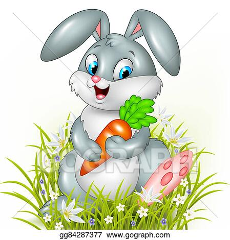 Rabbit With Carrot Clipart