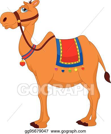 Vector Art - Cute camel cartoon  Clipart Drawing gg95679047 - GoGraph